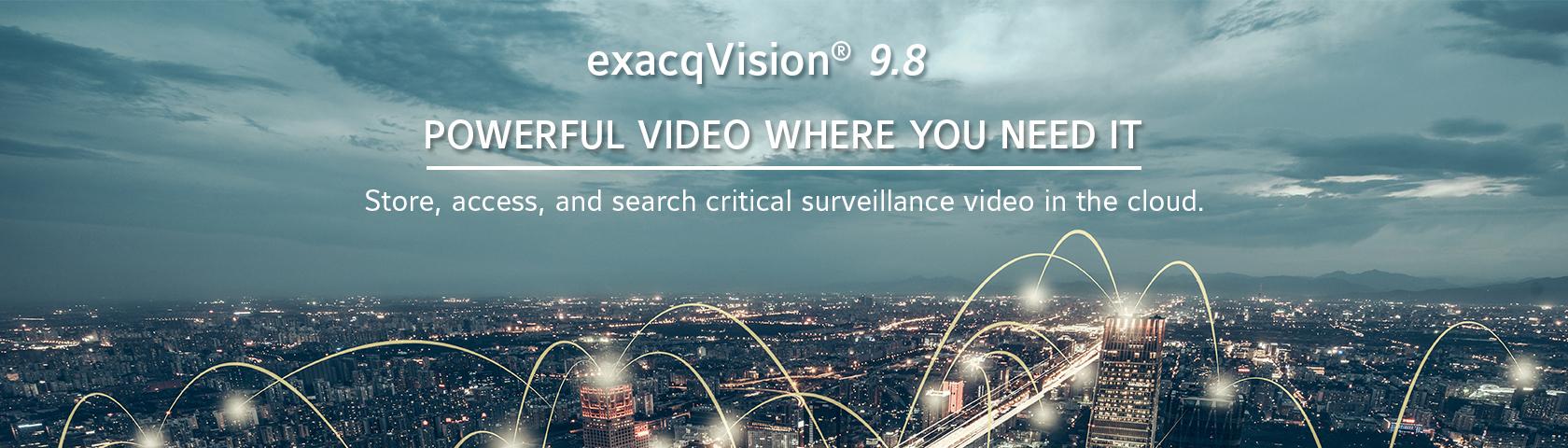 exacqVision 9.8