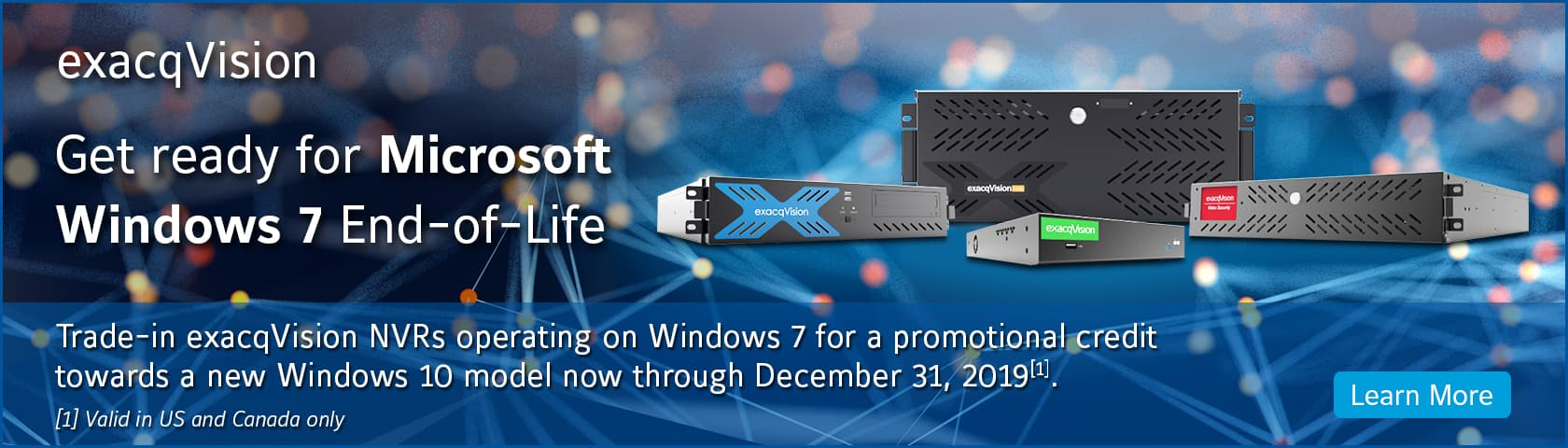 exacqVision Windows 10 Promotion