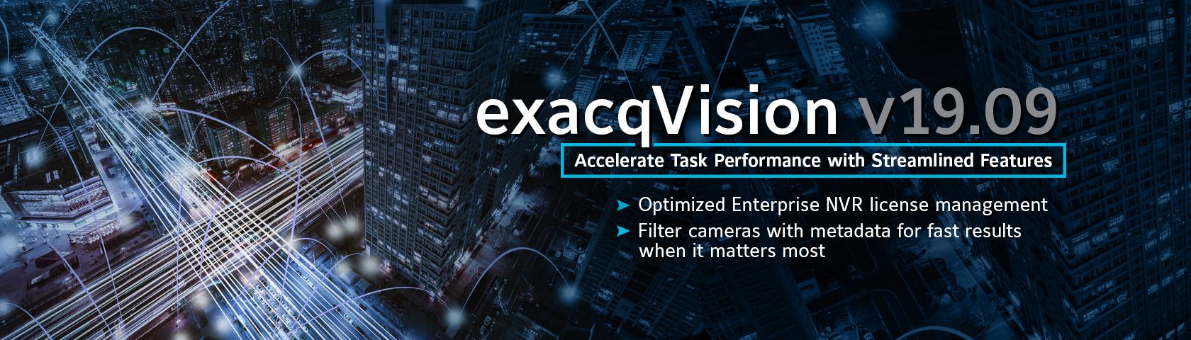 exacqVision 19.09